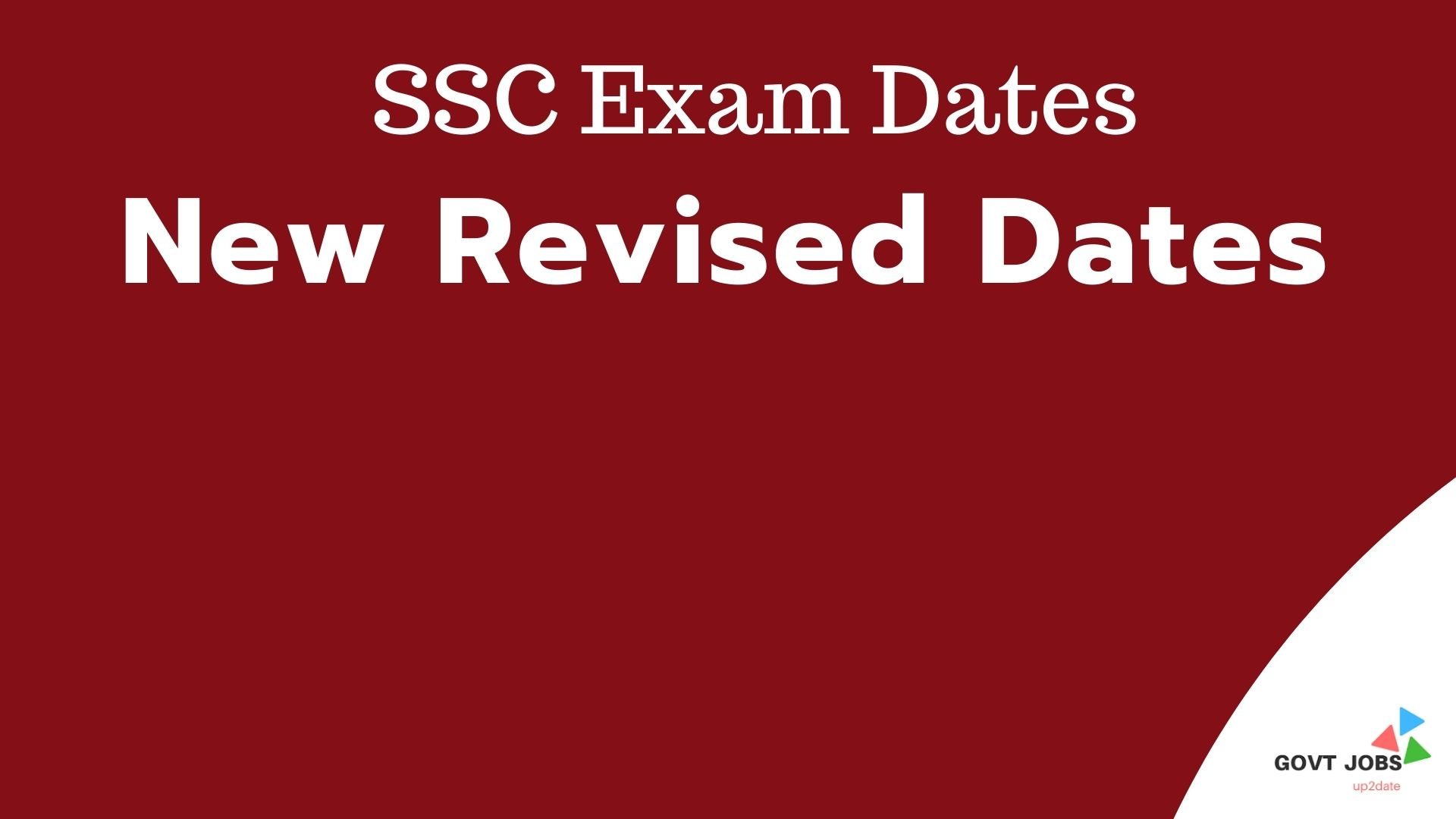 SSC Exam time table 2021
